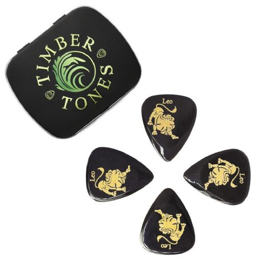 Zodiac Tones Leo Tin of 4 Guitar Picks